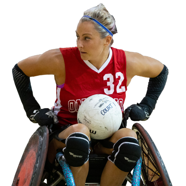 Rugby Wheelchair Sports female athlete