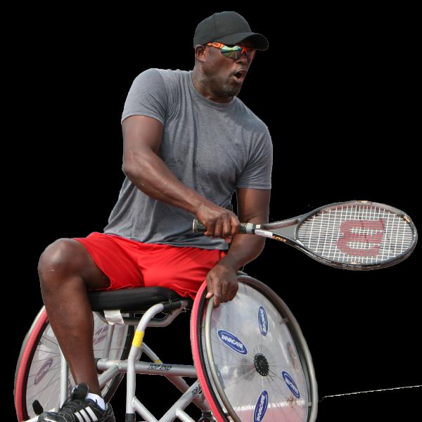 Wheelchair Tennis male athlete